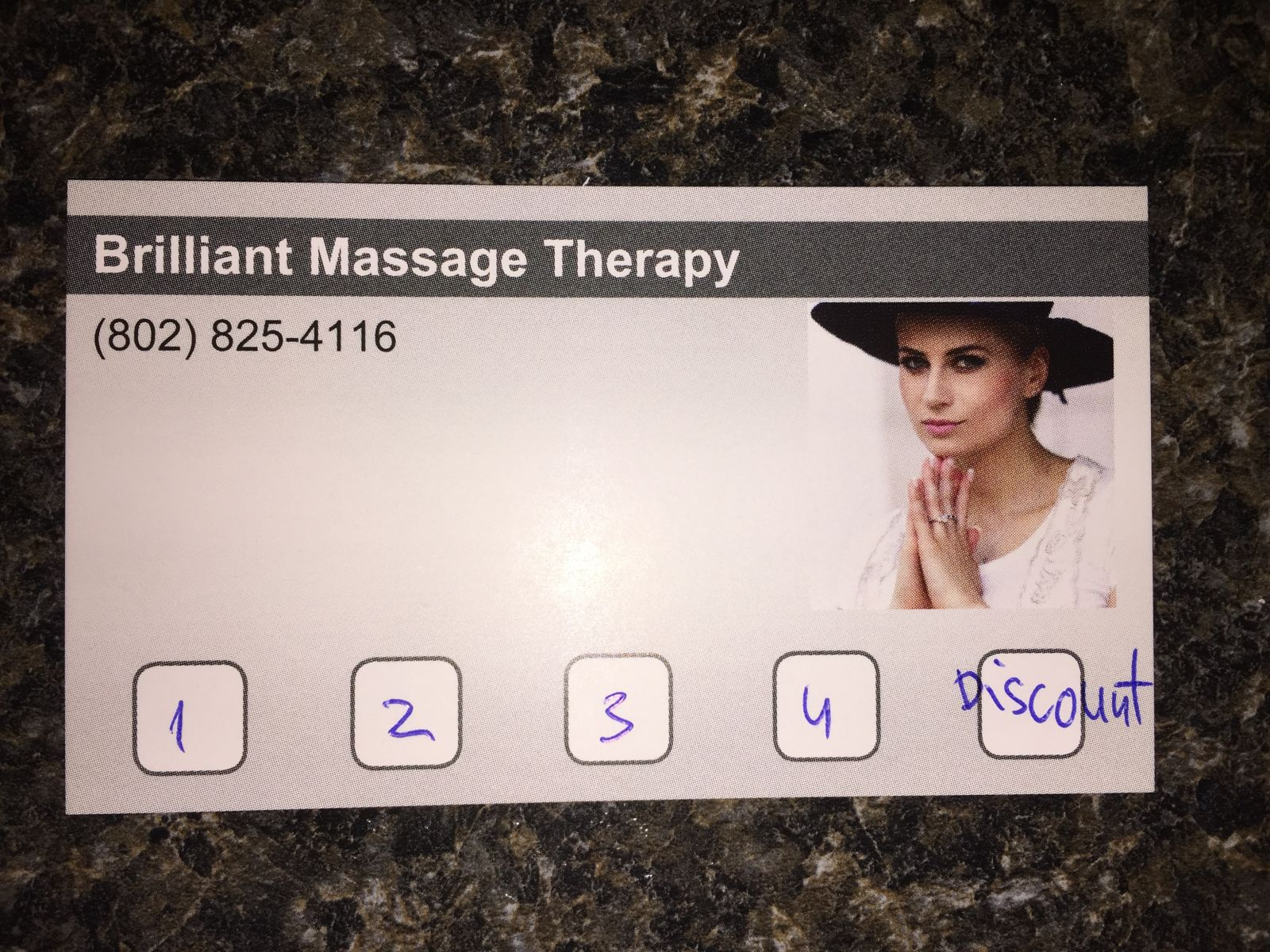 Brilliant Massage Therapy Loyalty Card
